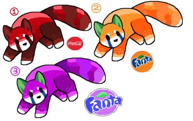 Free Soda themed lesser panda adopts! (Closed!)