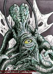 Dalek Creature ACEO