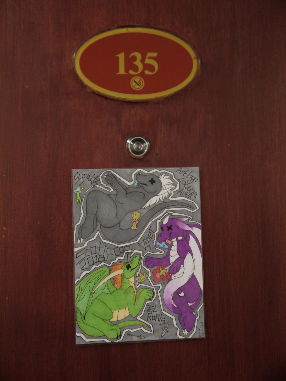 Dragons! - ScoitaCon room sign!