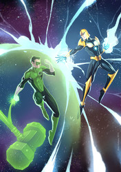 Green Lantern vs Nova Thanos