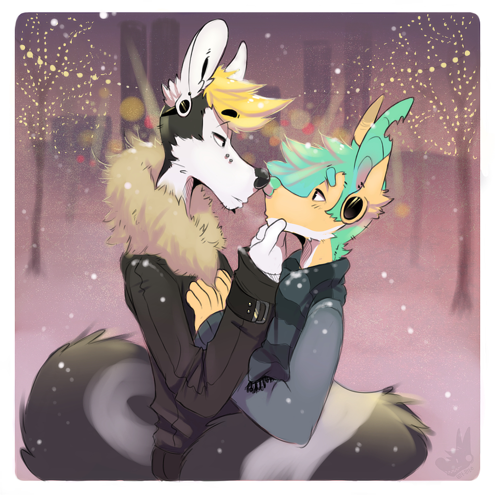 There's no mistletoe?... I know~