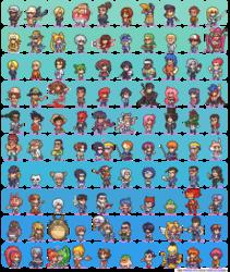 100 Manga & Anime sprites
