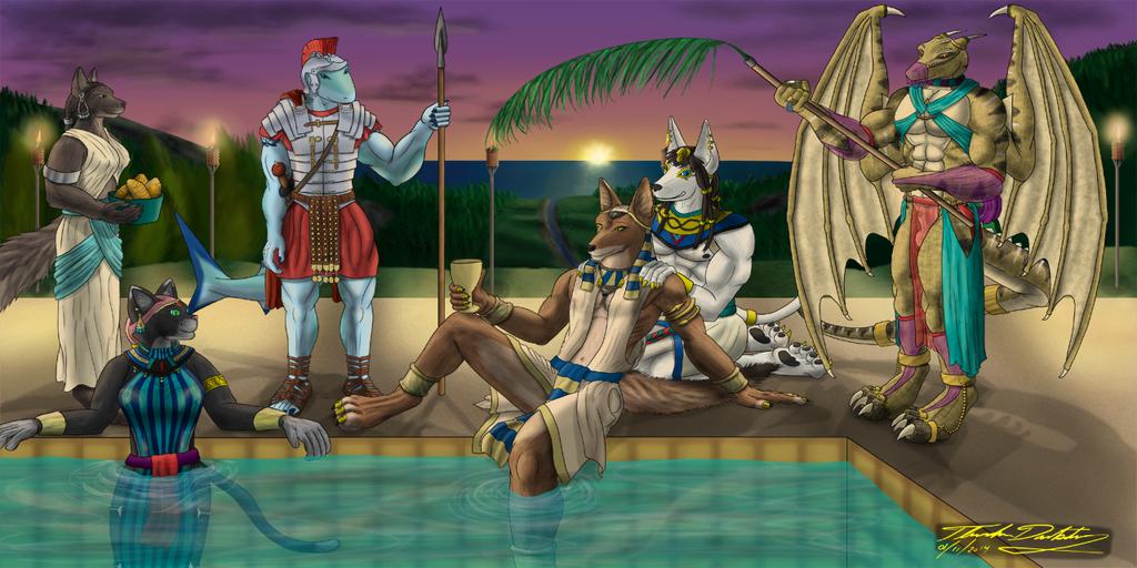 Egyptian Pool Party