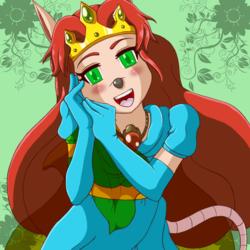 Princess Flora Portrait [SNES Sparkster]