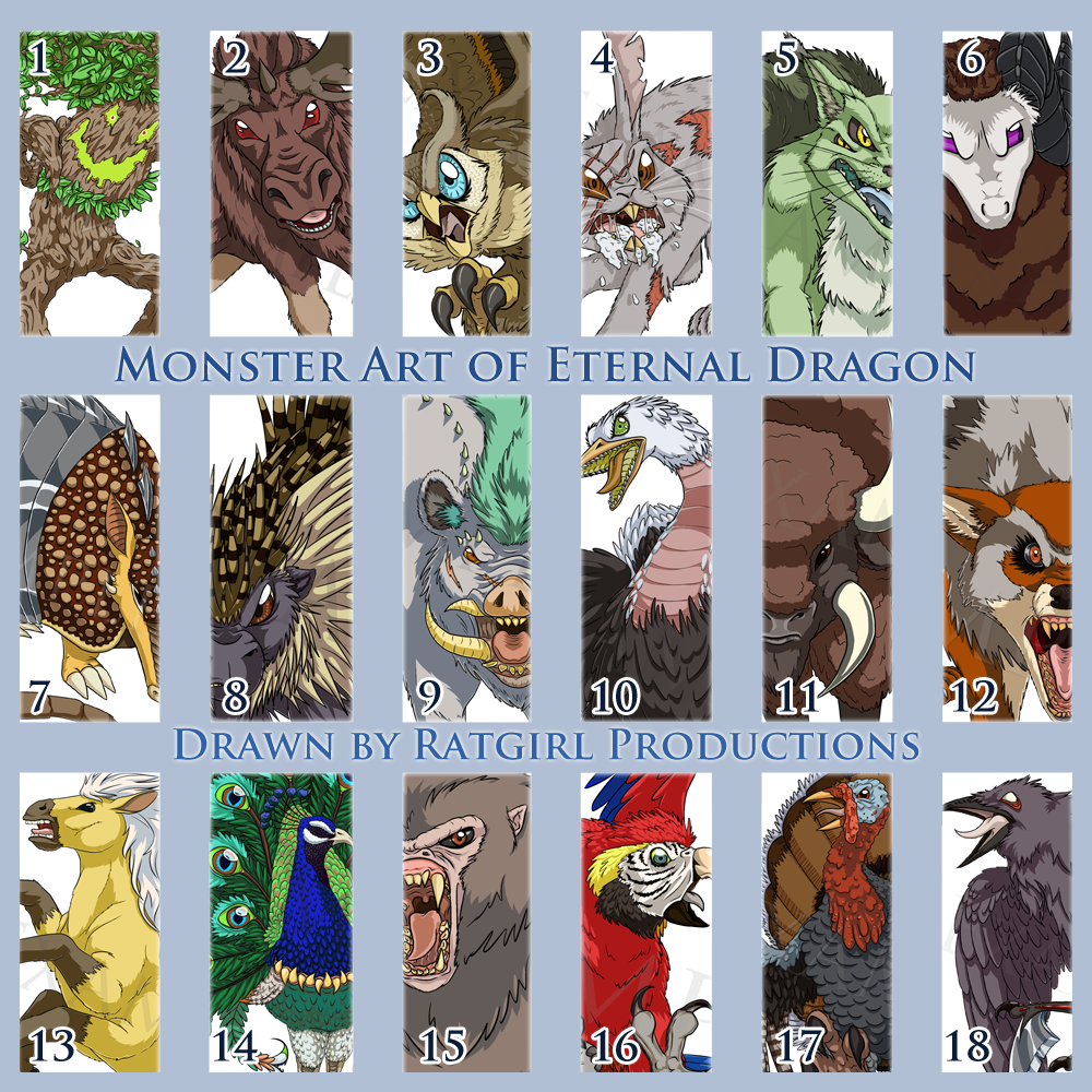 Monsters for Eternal Dragon by Ratgirl Productions 1-18