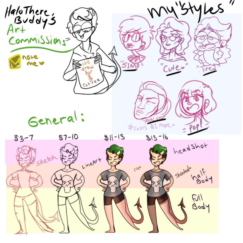 Most recent image: Commissions and Art Trade info~~