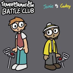 TF Battle Club poster: Jamie and Caskey