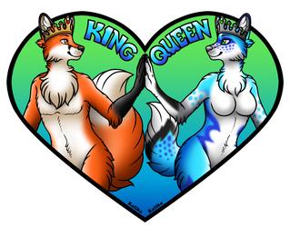 Heart Conbadge Set - King and Queen