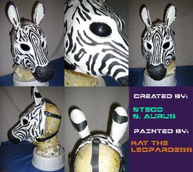 Painted Gas Mask: RubberZebra