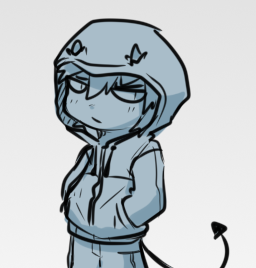 hooded individual