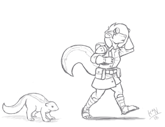 Skunk Scout: Before and After by Kazen101