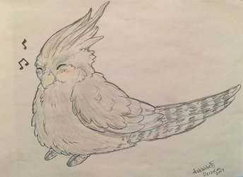 DPC Con cute bird commission