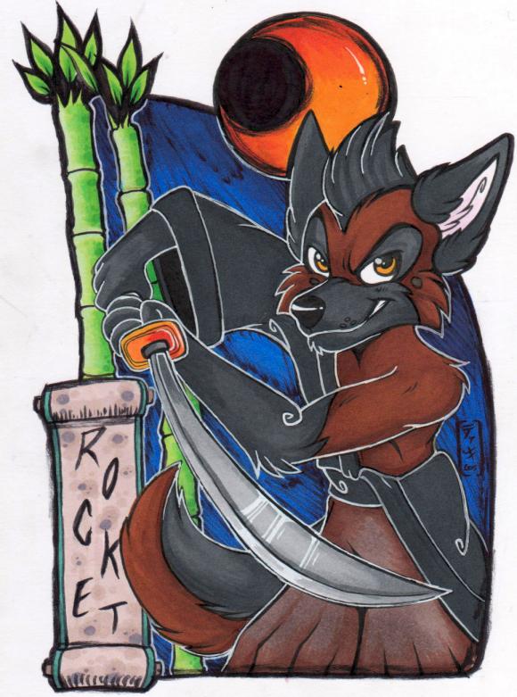 Rocket Oriental-Themed Badge (FWA 2015)