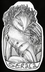 Giant Seraca graphite badge
