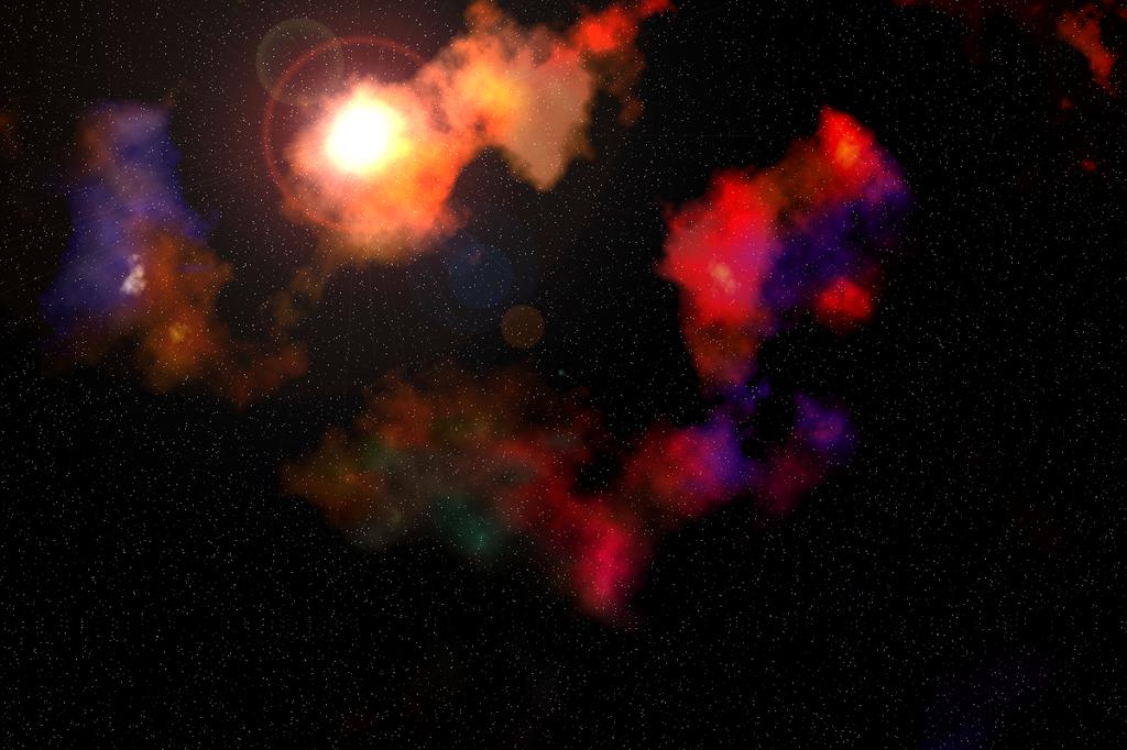 Nebula with Bright Object