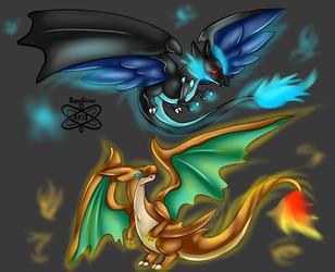Dragons and Blazes +Mega Charizards+