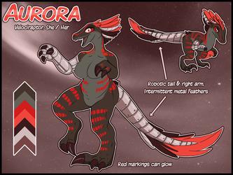 Ref Sheet - Aurora Raptor