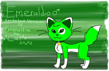 Genderbented Emeraldia (Redraw)