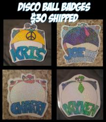 Disco Ball Badges