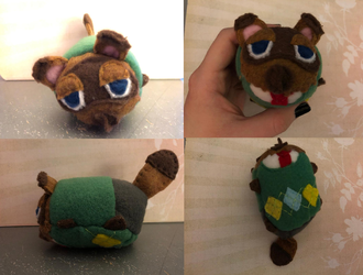 Animal Crossing Tom Nook Stacking Plush For Sale