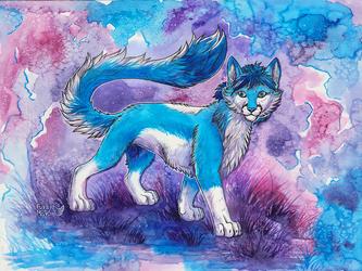 Waveon-watercolor painting