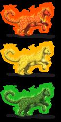 Felis Pardus - Elemental Leopards