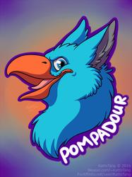 Pompadour Badge