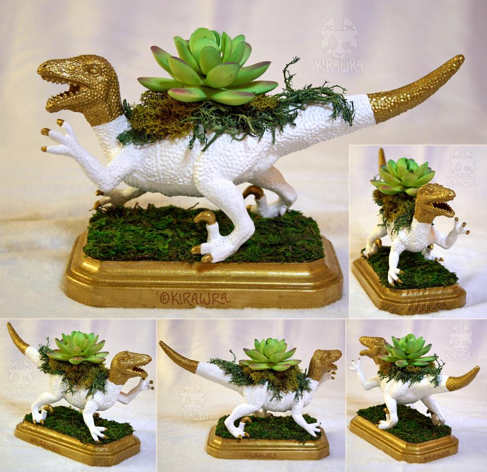 Velociraptor Planter Centerpiece 2