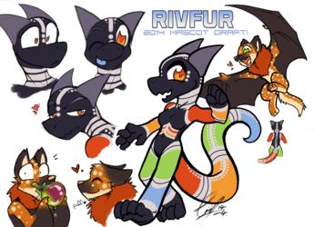 (new) RivFur Mascots!