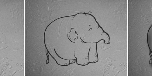 Images In Textures, 2 of 5: Puffy Elephant