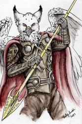 Sora - Warrior of Asgard Portrait by Millie Gryphon