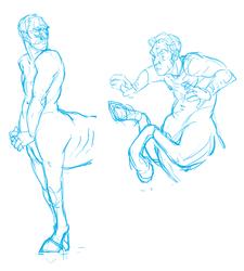 centaur half sketches