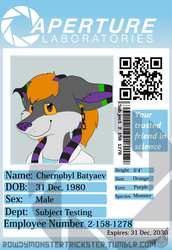 Chernobyl Aperture Badge