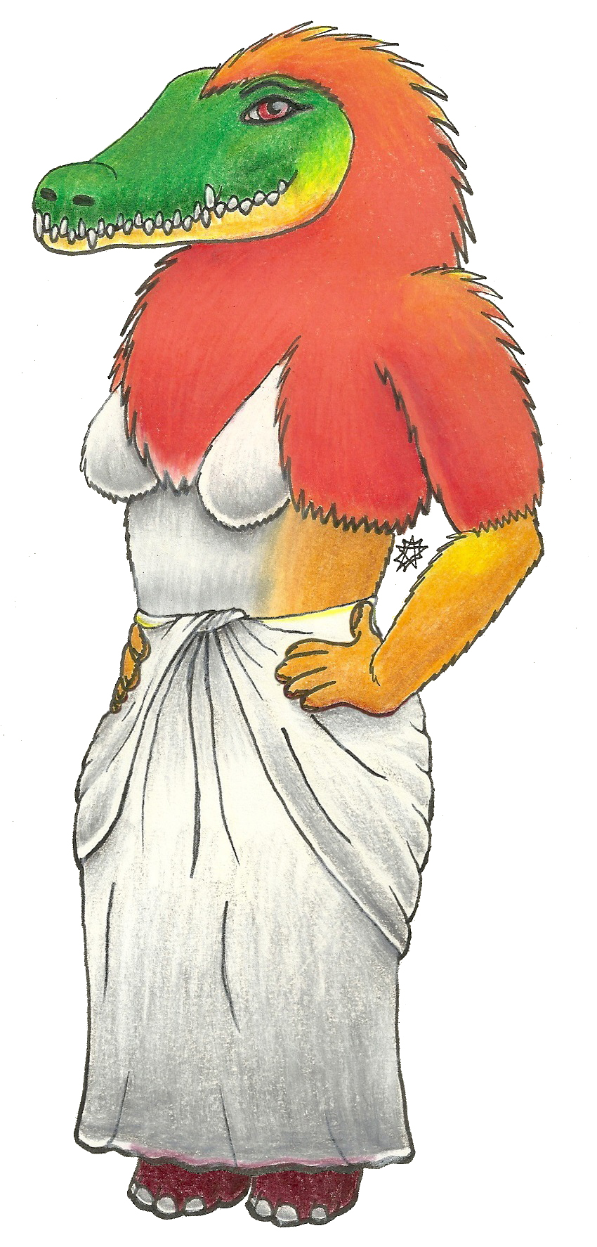 Anthro Ammit (Clothed)
