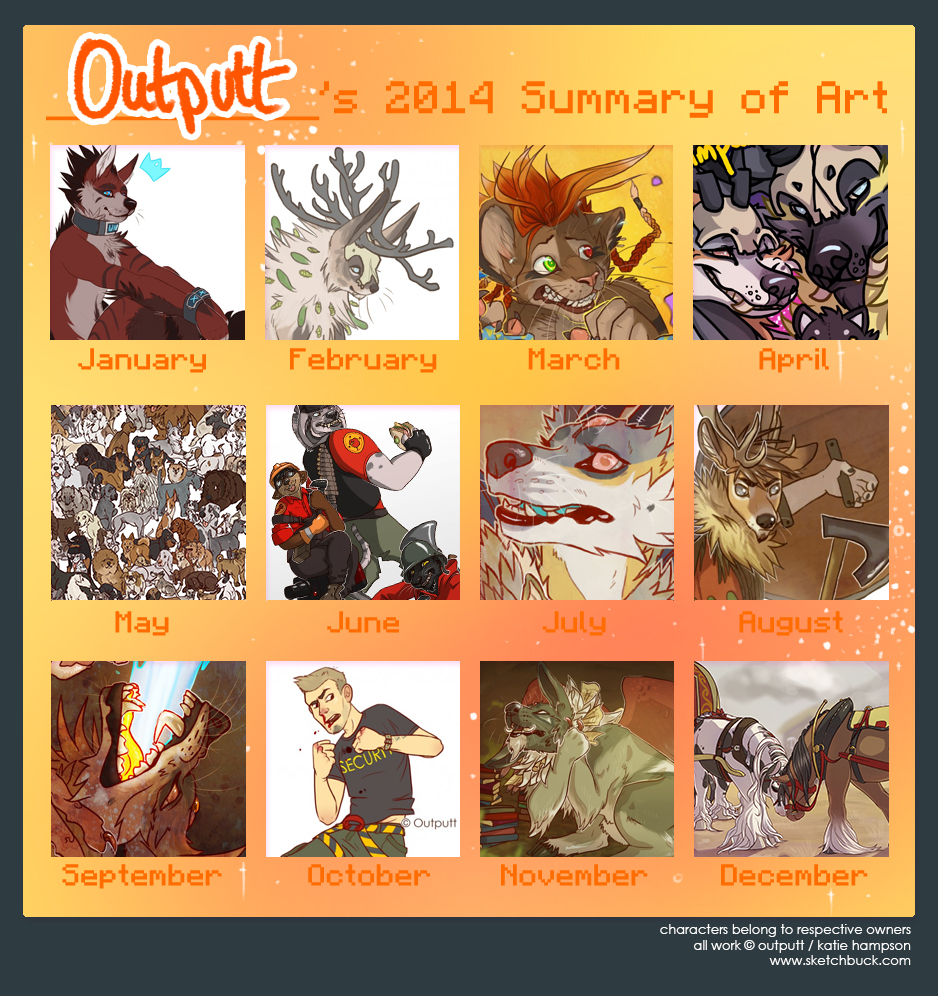 Outputt's 2014 Summary of Art