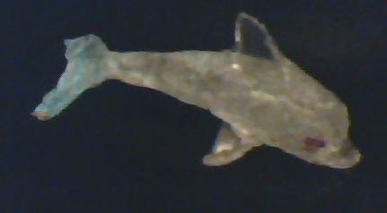Hot glue dolphin