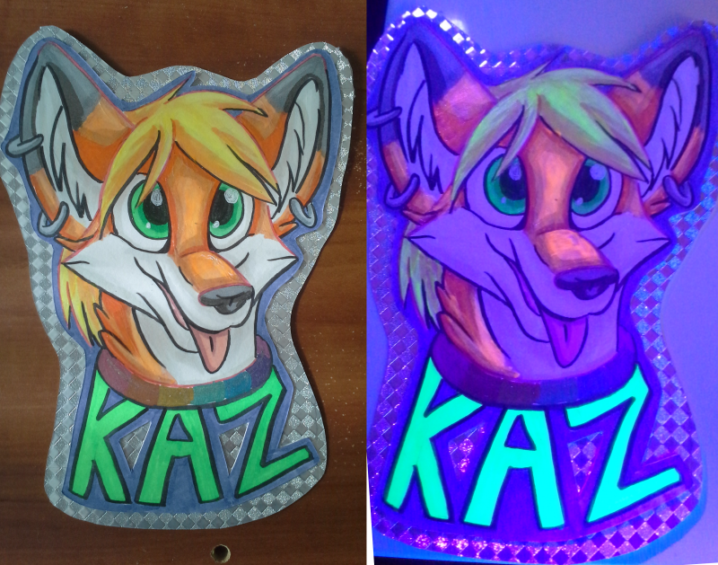 Most recent image: [C] Kaz Glow in the Dark/UV Badge
