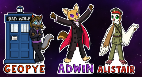 Chibi (Cosplay) Badges: Time Travel 3
