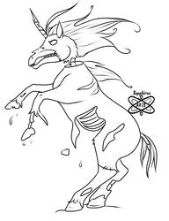 Zombie Unicorn +Commission WIP+