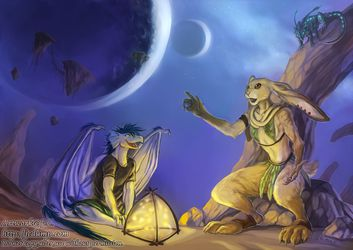 Rooth'ragon listens to Cinnamon -- by jc