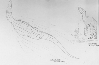 Dinovember - 20 - Suchomimus