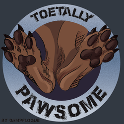 [Merch Design] Pawsome Sticker