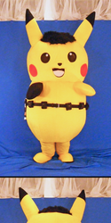 Pikachu Mascot Suit (Ace Spade Style, Front And Back)