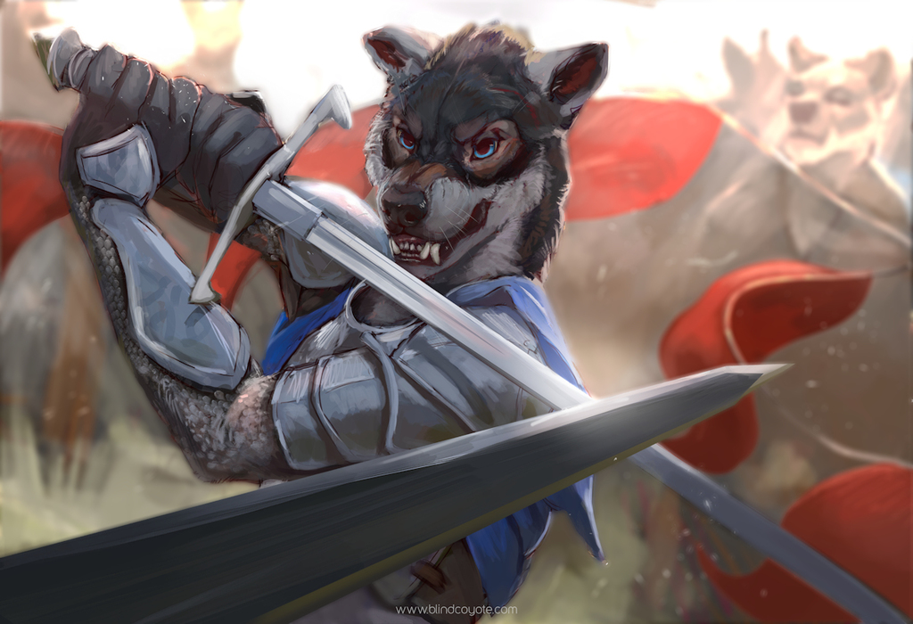 Sword Fighting Wolf by BlindCoyote