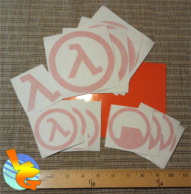 Half-Life Lambda and Black Mesa Vinyl Stickers