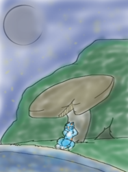 Cat and a Mushroom