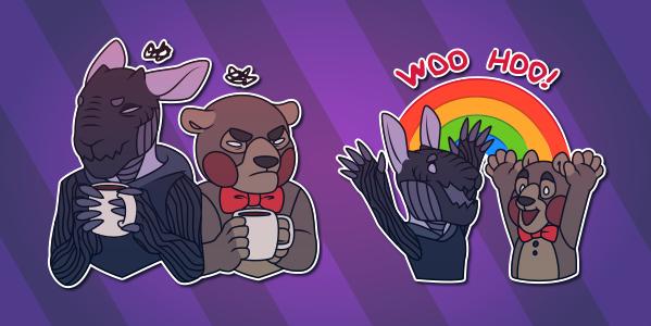 Hare+Teddy Telegram Stickers
