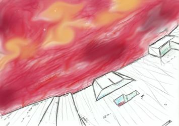 Red nebulae