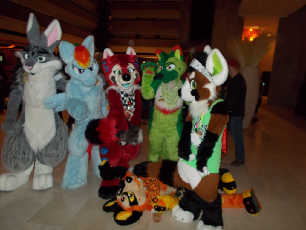 Colorful Group of Suiters