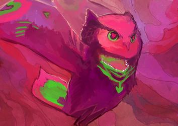 neon owlbear